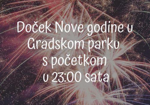 Doček Nove godine u Gradskom parku
