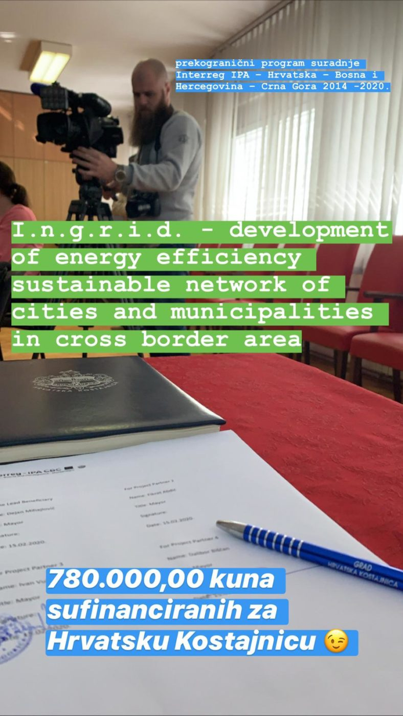 Development of energy efficiency sustainable network of cities and municipalities in cross border area